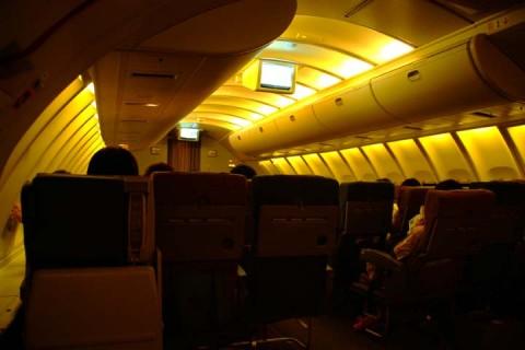 B747二階席